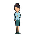 beautiful businesswoman avatar character vector image vector image