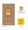 beer company logo app icon and splash page design vector image