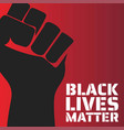 Black lives matter concept template