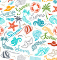 Bright seamless summer pattern vector image
