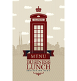 business lunch london vector image