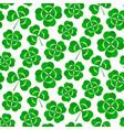 clover leaves seamless pattern green shamrock vector image vector image
