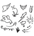 collection hand drawn doodle element for your vector image vector image
