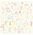 colorful arrows collection vector image