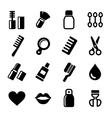 Cosmetics Perfume Icons Set vector image vector image