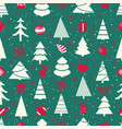 different christmas elements seamless pattern vector image