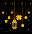eid mubarak lantern and stars hanging vector image