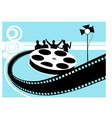 film reel with light vector image vector image