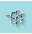 Flat dna icon Chemical formula symbol Health vector image