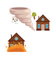 flat house insurance concept set vector image