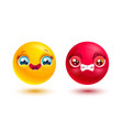 funny and angry emoji vector image vector image