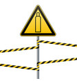 gas cylinder attention is dangerous warning sign vector image vector image