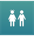 girl and boy icon on background vector image vector image