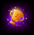 gold cup trophy gui gaming or mobile app icon vector image