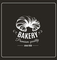 hand drawn croissant isolated bakery product vector image vector image