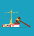 judge wooden gavel vector image vector image