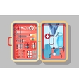 Medical suitcase vector image vector image
