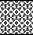 monochrome repeating geometrical snowflake vector image vector image