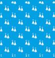 moon star earrings pattern seamless blue vector image