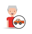 old man pickup truck icon vector image