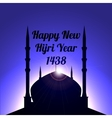 osque on a background of dawn happy new Hijri vector image vector image