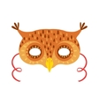 Owl Animal Head Mask Kids Carnival Disguise vector image vector image