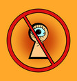 peeping is forbidden vector image