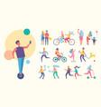people doing sport active vector image