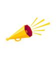retro yellow megaphone vector image vector image