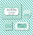 save the date template series 2 green vector image vector image