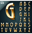 Set of golden 3D alphabet vector image vector image
