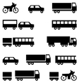 Set of icons - transportation symbols Black vector image vector image