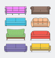 sofa Icon set vector image