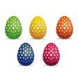 star pattern on easter eggs set easter eggs vector image vector image