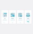 success business idea ux ui onboarding mobile app vector image