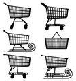 Supermarket Cart Pictogram vector image vector image