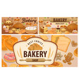 sweet pastry bakery product banners vector image