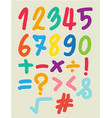 the number drawn by a crayon vector image