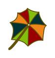umbrella beach design template vector image vector image