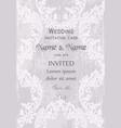 vintage baroque victorian invitation card vector image vector image