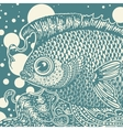 vintage fish vector image
