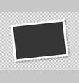 vintage photo frame on transparent background vector image vector image