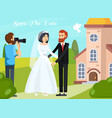 wedding people orthogonal composition vector image vector image