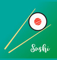 wooden chopsticks holding sushi vector image vector image