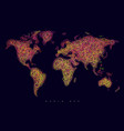 world map tangle lines pink dark vector image