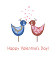 two colorful birds in love vector image