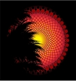 African tribal art background vector image