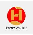Letter H logo icon design template elements vector image