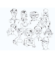 Set Of Drawn Characters vector image