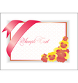 with pink flower vector image